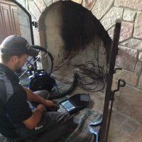 Chimney camera inspection