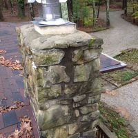Chimney with water leak repair