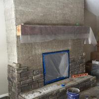 Built Custom Fireplace Before