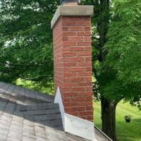 A chimney after crown repair.